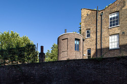 View over garden wall, Wapping