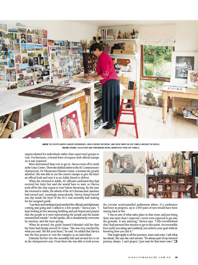 Article - Highlife - Slavica Zivkovic