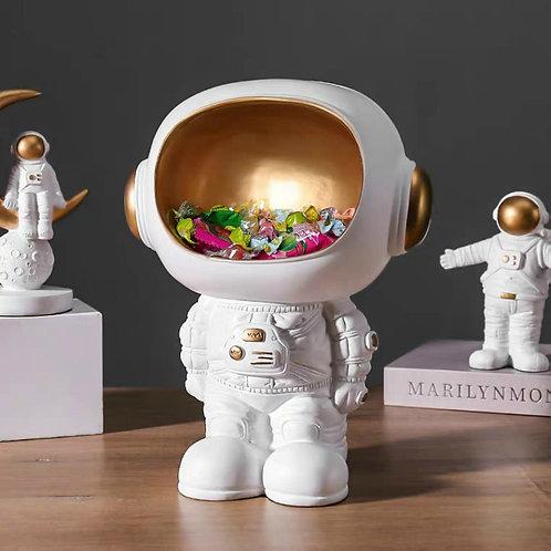 Nordic Resin Creative Astronaut Sculpture Figurine Sweety Keys Storage