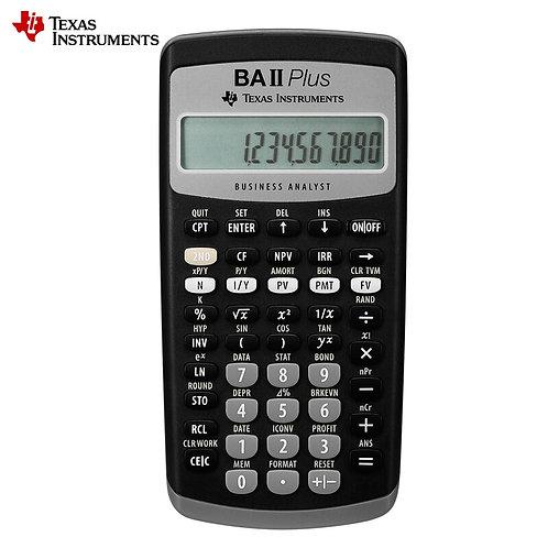 CFA Exam Financial Calculator - Texas Instruments BAII Plus 12 Digits