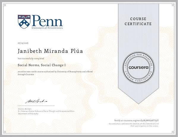 Sample Coursera Certificate