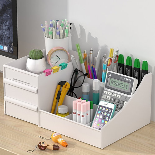 Plastic Storage Box Desk Organizer for Stationary