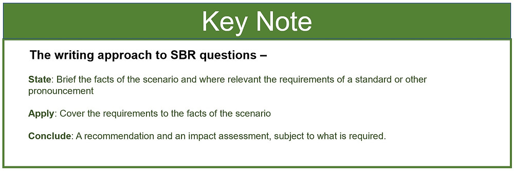 Writing Approach to ACCA SBR Questions