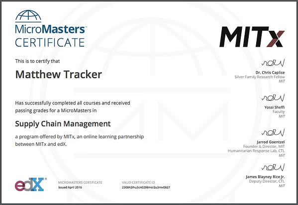 edX certificate MIT