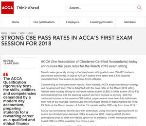 ACCA Pass Rates March 18 Exam: What exam tips do examiners