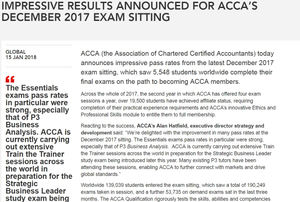 Dec 17 ACCA Exam Pass Rates: Tips from Examiner