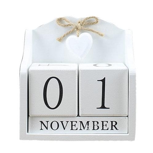 Creative Diy Wood Block Perpetual Calendar
