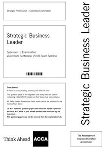 ACCA Strategic Business Leader (SBL): Attempt it step-by-step