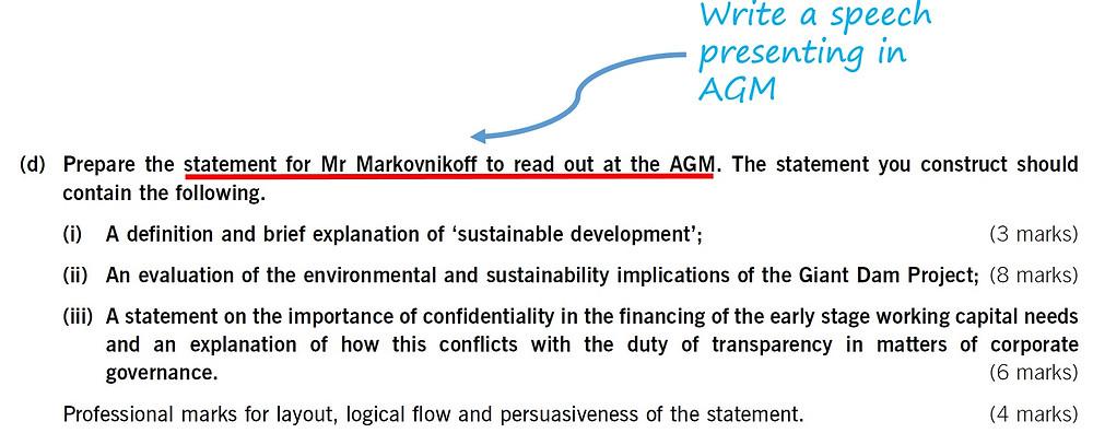 ACCA P1 June 2008 Past Paper Question