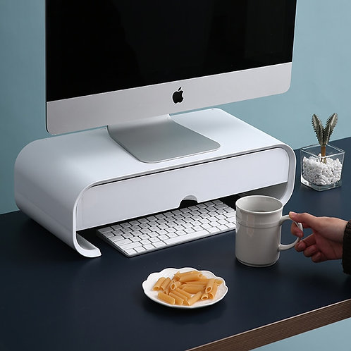 ABS Ergonomic Laptop Stand & Desk Organizer Drawer