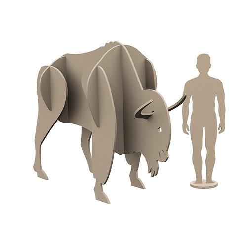 Buz Devri Serisi: Antik Bizon ve İnsan Figürü