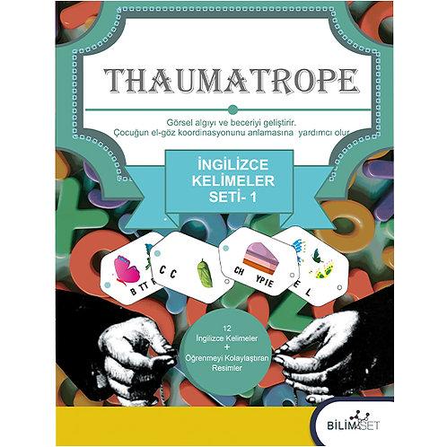 Thaumatrope Setleri: İngilizce Kelimeler -1