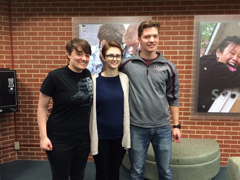 Hayley Brooks with Bethel College students Zach Preheim and Mareike Bergen