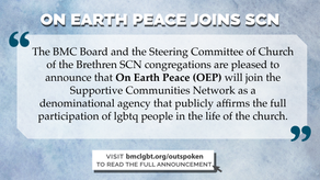 On Earth Peace joins SCN