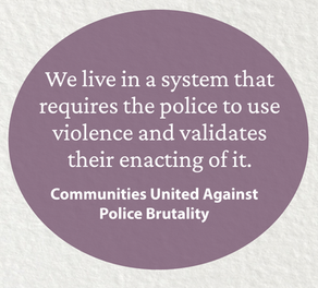Joint statement on police brutality