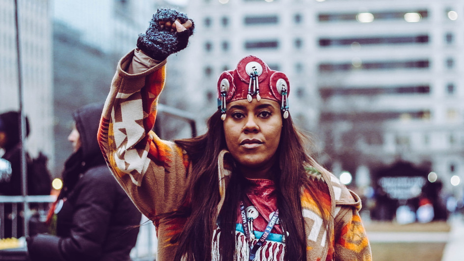 8. Indigenous woman, Women's March DC organizer