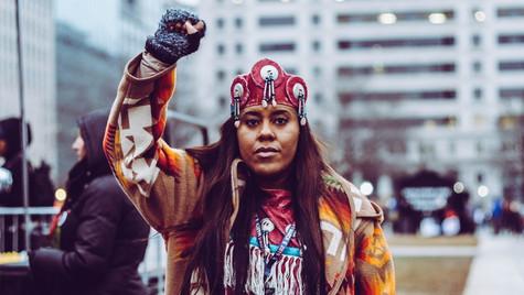 8. Indigenous woman, Women's March DC organizer