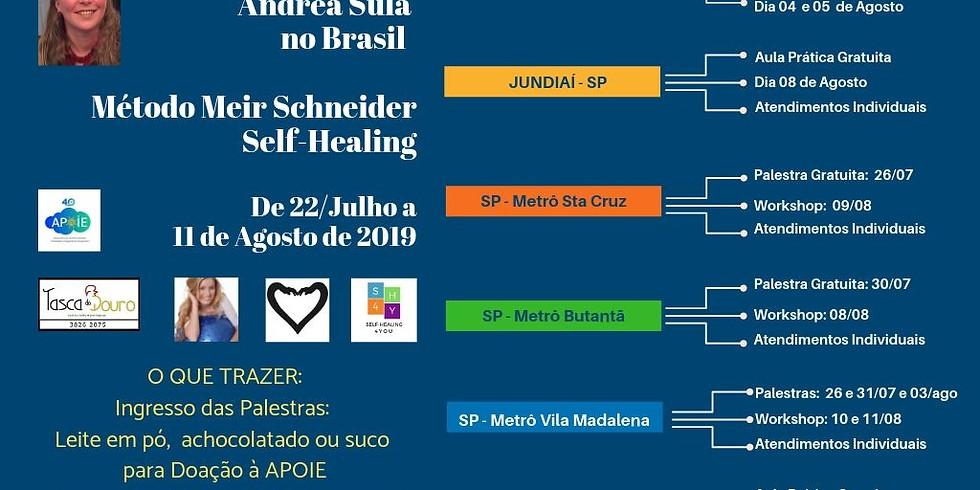 Fim da Temporada Andréa Sula no Brasil: Palestras Gratuitas, Workshops e Atendimentos Individuais