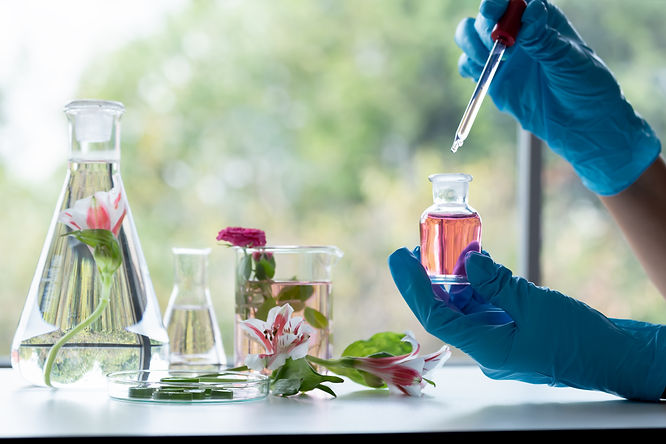 In laboratory ,natural orgaric extractio