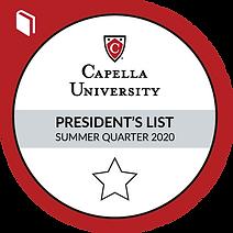 Capella University Deans List Badge 2020