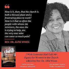 Dr Alfie Wines I Wish Someone Had Told M