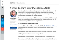 5 Ways to Turn Your Patents Into Gold
