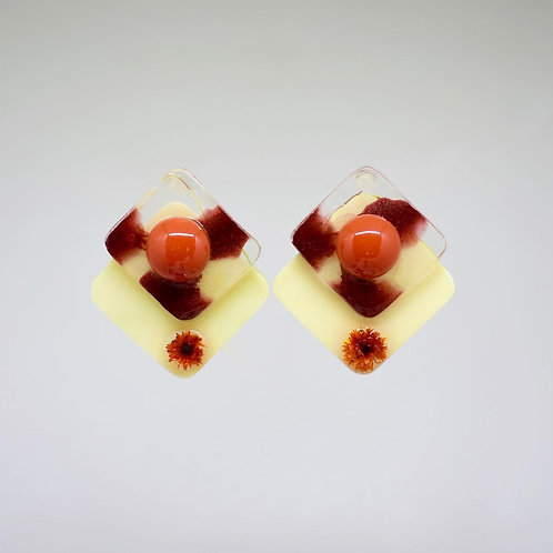 Orange Cream Earrings