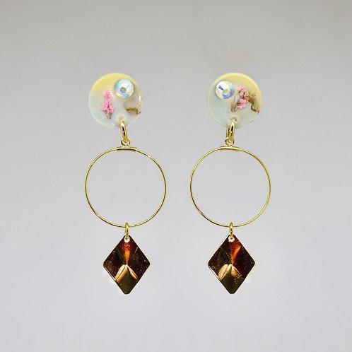 Medium Post Angel Earrings