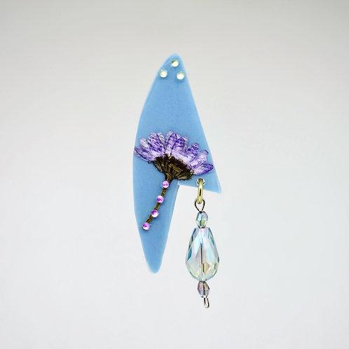 Lavender Flower in Resin Earrings