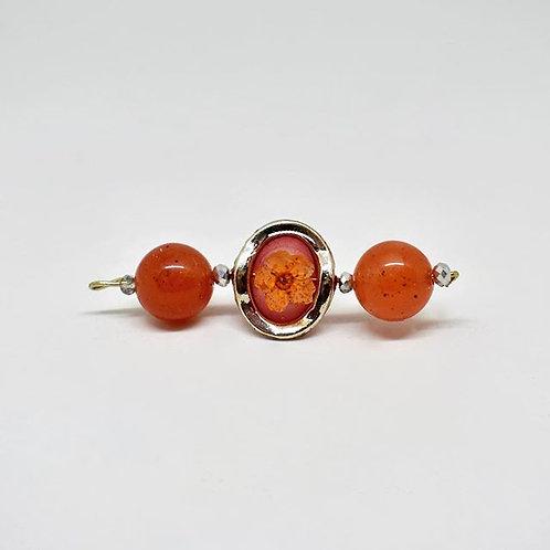 Orange Bulb Earrings