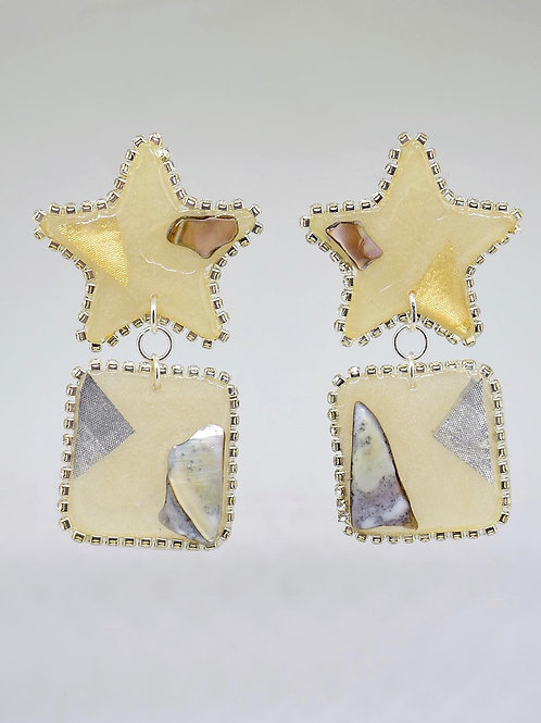 Stars and Stone Earrings