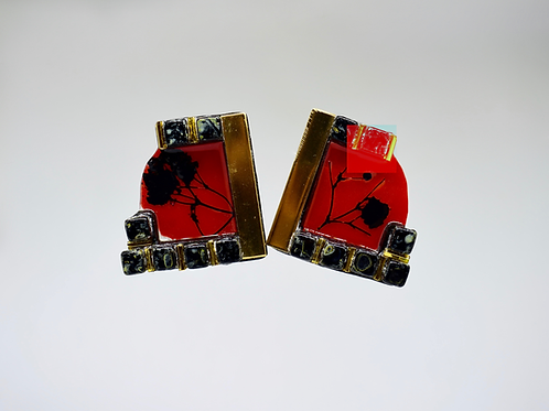 Hell Square Earrings