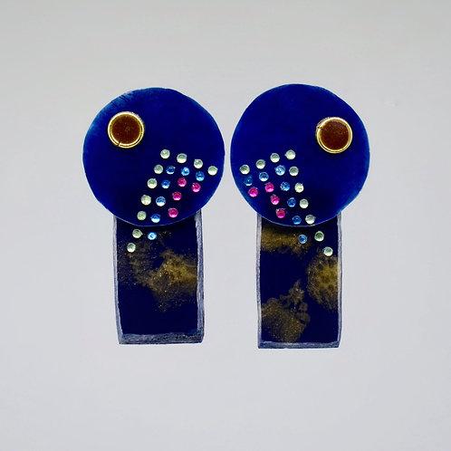 Navy Mountain Earrings