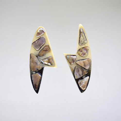 Beige Stone Earrings