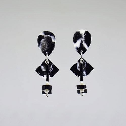 Black and White Shape Earrings