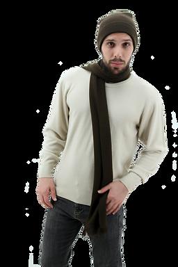 suéter de hombre, bufanda de hombre, gorro para hombre
