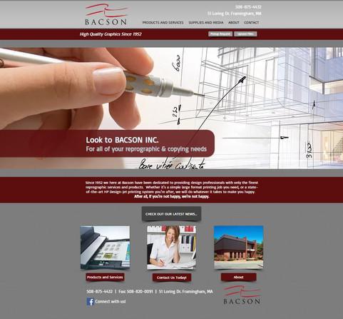 Bacson Website Design