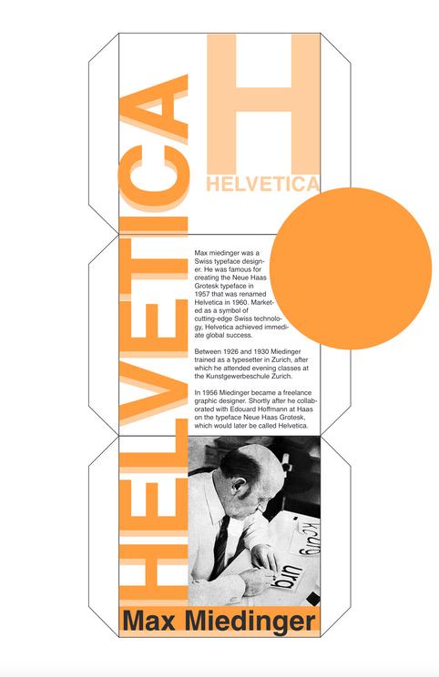 Helvetica Cube