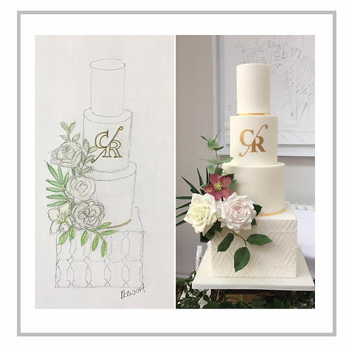 Online Night School 3 - Wedding Cake Sketch to Reality