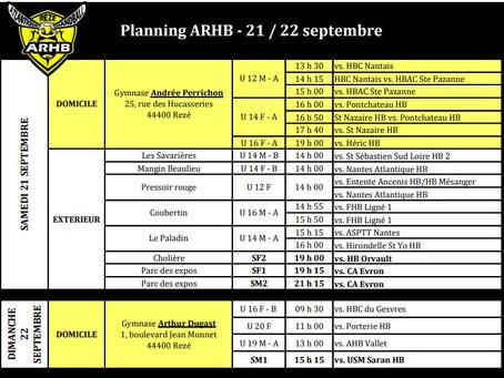 Planning septembre
