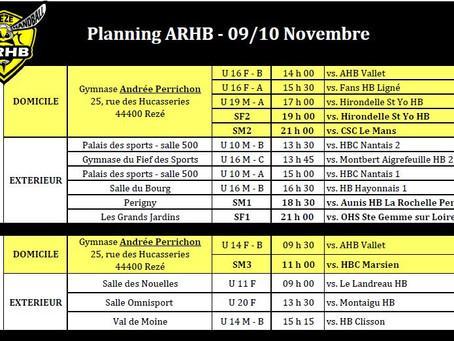 Plannings novembre 2019