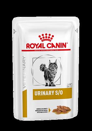 Влажный корм (кусочки в соусе) Royal Canin Urinary S/O диета для кошек при МКБ