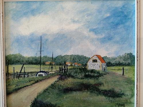 'The coal barn, Thornham' by Moira Johnson