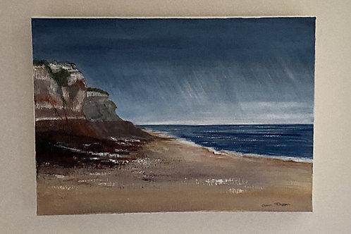 """Hunstanton Cliffs' by Gillian Thompson"