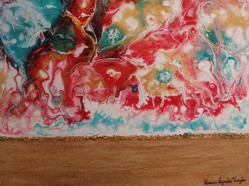 'Peach delight' by Susan Lynda Taylor £55 each or 2 for £100.