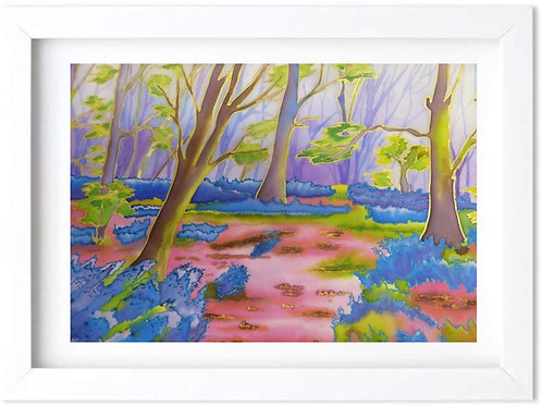 'Leziate Bluebell Wood' by Helena Anderson