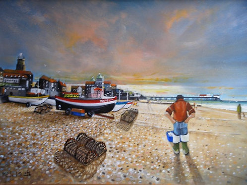 """""""Last light, Cromer' by Mike Smith"""