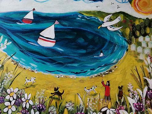 'Seaside stroll' by Sarah Heather