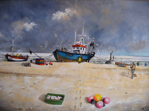 """""""The blue boat, Aldeburgh' by Mike Smith."""