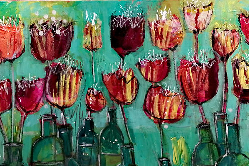 Chicago Bottlescape  by Sarah Heather